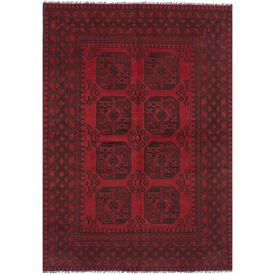 One-of-a-Kind Bridges Hand Knotted Wool Red Area Rug Rug Size: Rectangle 53 x 79