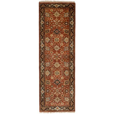 One-of-a-Kind Briggs Hand Knotted Wool Copper Area Rug Rug Size: Runner 26 x 8
