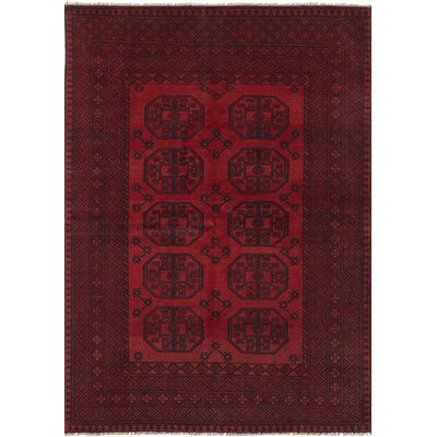 One-of-a-Kind Bridges Hand Knotted Wool Red Area Rug Rug Size: Rectangle 53 x 711