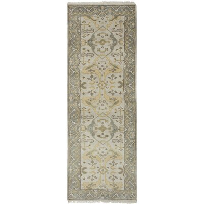 One-of-a-Kind Li Hand Knotted Wool Light Khaki Area Rug