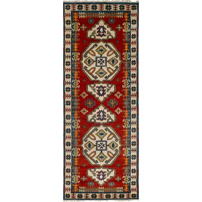 One-of-a-Kind Berkshire Hand Knotted Wool Red Area Rug