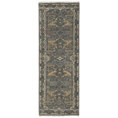 One-of-a-Kind Li Hand Knotted Wool Gray Area Rug