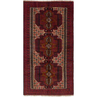 One-of-a-Kind Onawa Hand Knotted Wool Red Area Rug