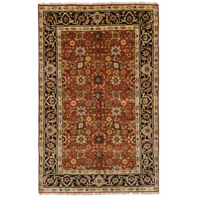 Briggs Hand Knotted Wool Dark Copper Area Rug