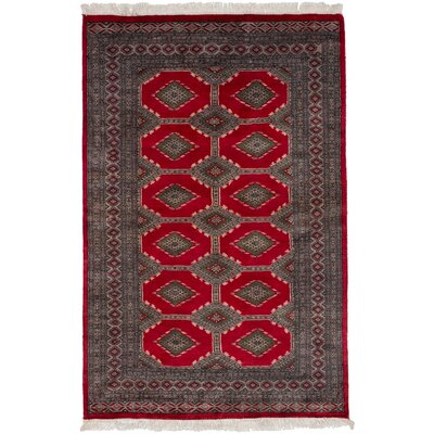 One-of-a-Kind Olney Springs Hand Knotted Wool Red Area Rug