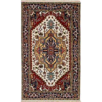 Briggs Hand Knotted Wool Cream Area Rug