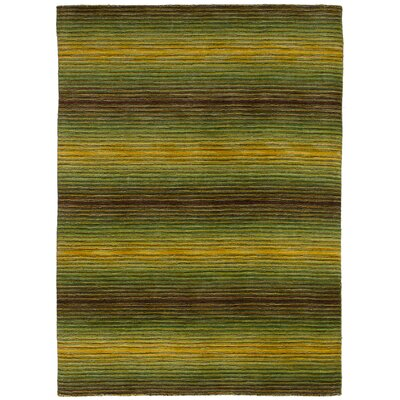One-of-a-Kind Crider Hand Knotted Wool Green Area Rug