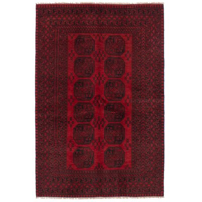 One-of-a-Kind Bridges Hand Knotted Wool Red Area Rug Rug Size: Rectangle 52 x 8