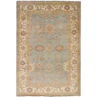 One-of-a-Kind Li Hand Knotted Wool Light Gray Area Rug