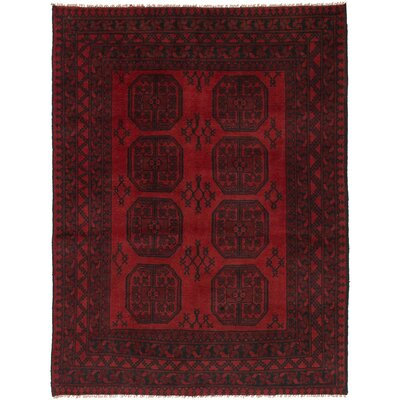 One-of-a-Kind Bridges Hand Knotted Wool Red Area Rug Rug Size: Rectangle 5 x 68
