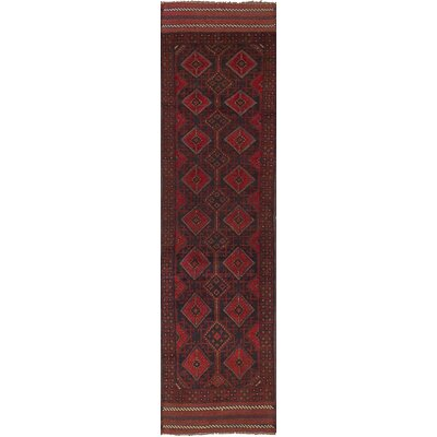 One-of-a-Kind Bilbania Hand Knotted Wool Dark Navy/Red Area Rug