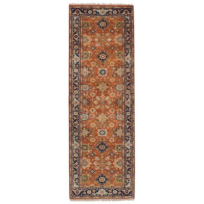 One-of-a-Kind Briggs Hand Knotted Wool Orange Area Rug