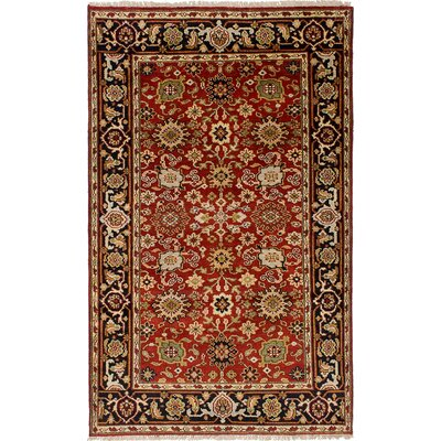 One-of-a-Kind Briggs Hand Knotted Wool Red Area Rug Rug Size: Rectangle 5 x 81