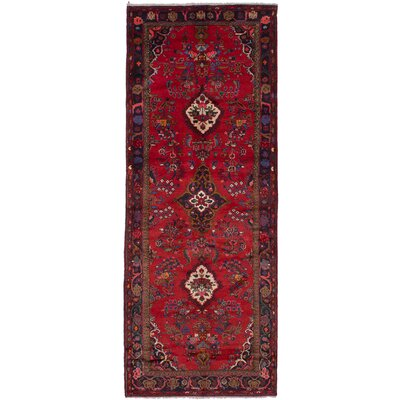 One-of-a-Kind Roth Hand Knotted Wool Red Area Rug