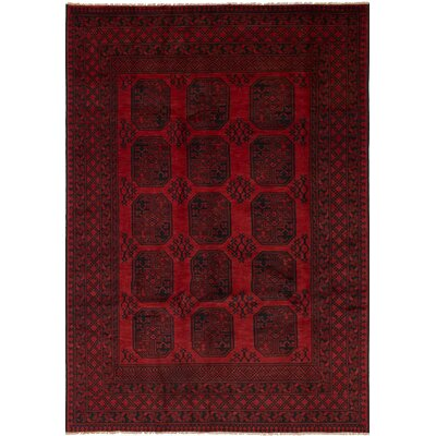 One-of-a-Kind Bridges Hand Knotted Wool Red Area Rug Rug Size: Rectangle 64 x 95