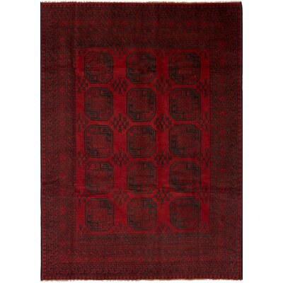 One-of-a-Kind Bridges Hand Knotted Wool Red Area Rug Rug Size: Rectangle 68 x 95