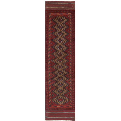 One-of-a-Kind Bilbania Hand Knotted Wool Red Area Rug