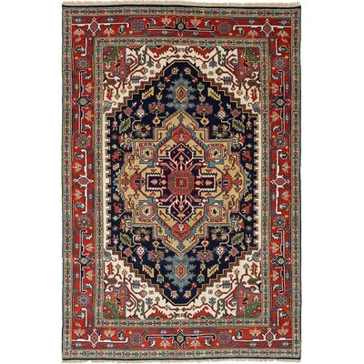 One-of-a-Kind Briggs Hand Knotted Wool Dark Copper/Dark Navy Area Rug