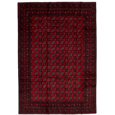 One-of-a-Kind Bridges Hand Knotted Wool Red Area Rug Rug Size: Rectangle 66 x 96