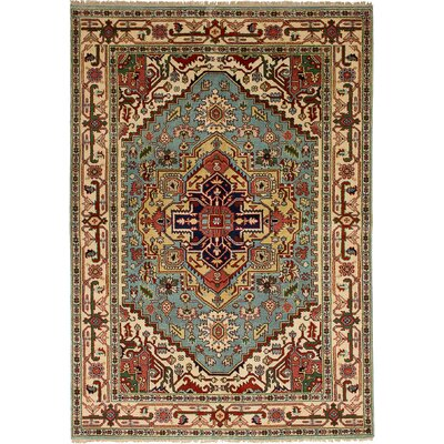 One-of-a-Kind Briggs Hand Knotted Wool Cream Area Rug