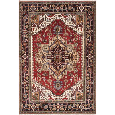 One-of-a-Kind Briggs Hand Knotted Wool Black Area Rug