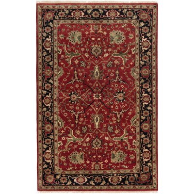 One-of-a-Kind Briggs Hand Knotted Wool Burgundy Area Rug