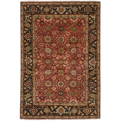 Briggs Hand Knotted Wool Red Area Rug
