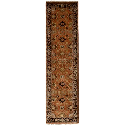 One-of-a-Kind Briggs Hand Knotted Wool Copper Area Rug Rug Size: Runner 26 x 911