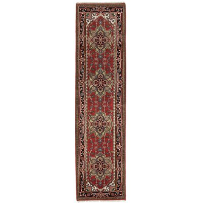 One-of-a-Kind Briggs Hand Knotted Wool Dark Burgundy Area Rug