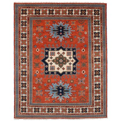 One-of-a-Kind Berkshire Hand Knotted Wool Dark Copper Area Rug Rug Size: Rectangle 8'0