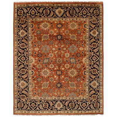 One-of-a-Kind Briggs Hand Knotted Wool Copper Area Rug Rug Size: Rectangle 710 x 910