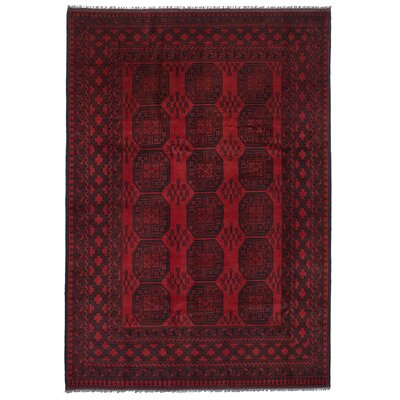 One-of-a-Kind Bridges Hand Knotted Wool Red Area Rug Rug Size: Rectangle 66 x 98