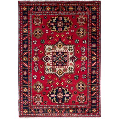 One-of-a-Kind Berkshire Hand Knotted Wool Red Area Rug Rug Size: Rectangle 60 x 810