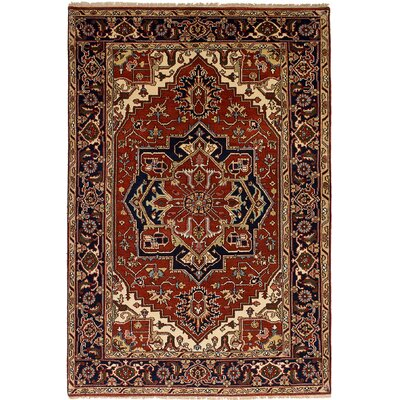 One-of-a-Kind Briggs Hand Knotted Wool Dark Red Area Rug