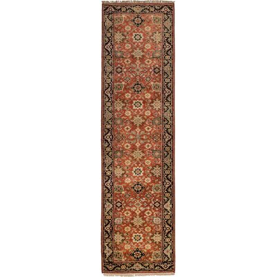 One-of-a-Kind Briggs Hand Knotted Wool Copper Area Rug Rug Size: Runner 26 x 99