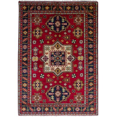 One-of-a-Kind Berkshire Hand Knotted Wool Red Area Rug Rug Size: Rectangle 60 x 811