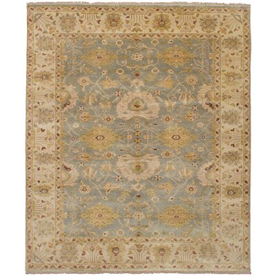 One-of-a-Kind Souders Hand Knotted Wool Beige/Blue Area Rug