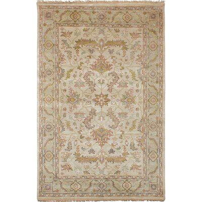 Souders Hand Knotted Wool Ivory Area Rug