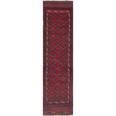 One-of-a-Kind Bilbania Hand Knotted Wool Dark Red Area Rug