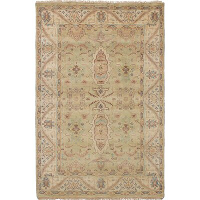 One-of-a-Kind Souders Hand Knotted Wool Light Green Area Rug