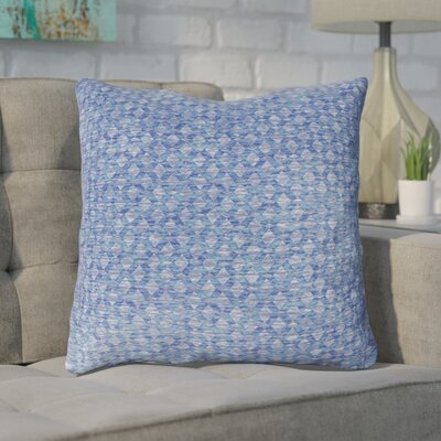Foerster Geometric Diamond Throw Pillow Color: Navy