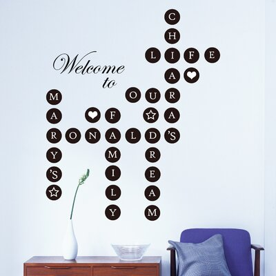 Welcome Home Puzzle Lettering Wall Decal 55954BE6F4BD4EE3A3D66A164C9488BB