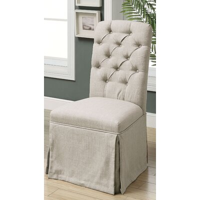 Eleanora Transitional Upholstered Dining Chair Upholstery: Beige