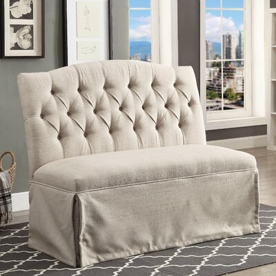 Eleanora Transitional Loveseat Upholstery: Beige