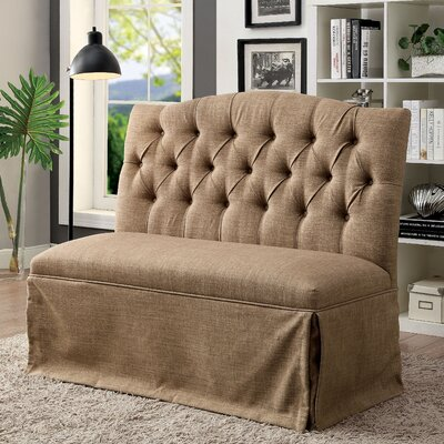 Eleanora Transitional Loveseat Upholstery: Brown