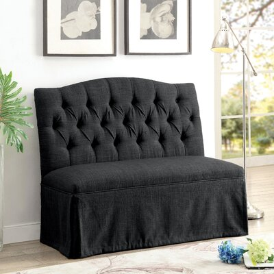 Eleanora Transitional Loveseat Upholstery: Dark Gray