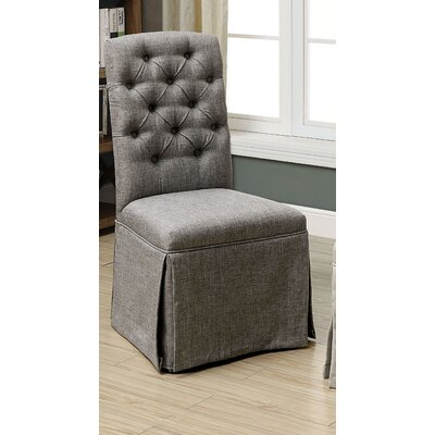 Eleanora Transitional Upholstered Dining Chair Upholstery: Gray