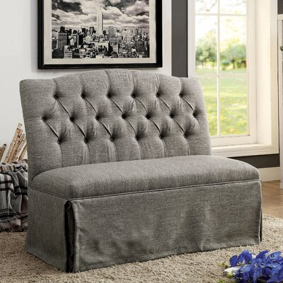 Eleanora Transitional Loveseat Upholstery: Gray