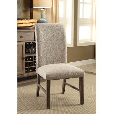 Elfrieda Transitional Upholstered Dining Chair Upholstery Color: Rustic Oak
