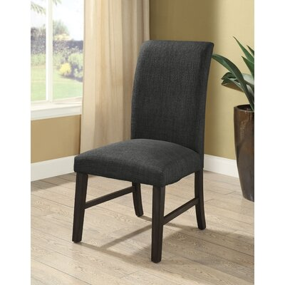 Elfrieda Transitional Upholstered Dining Chair Upholstery Color: Dark Gray